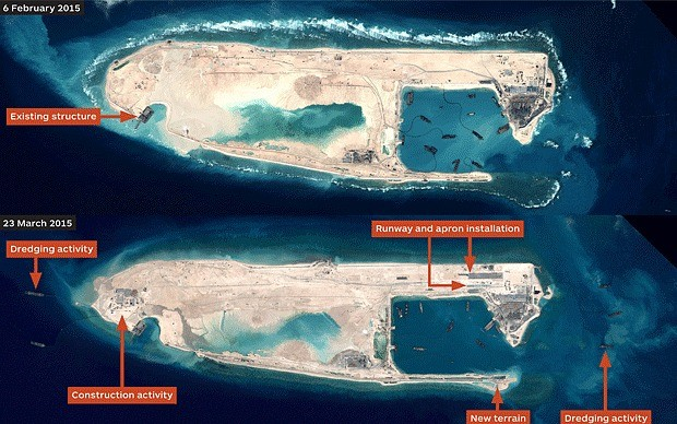 Chinese Illegal base south China Sea