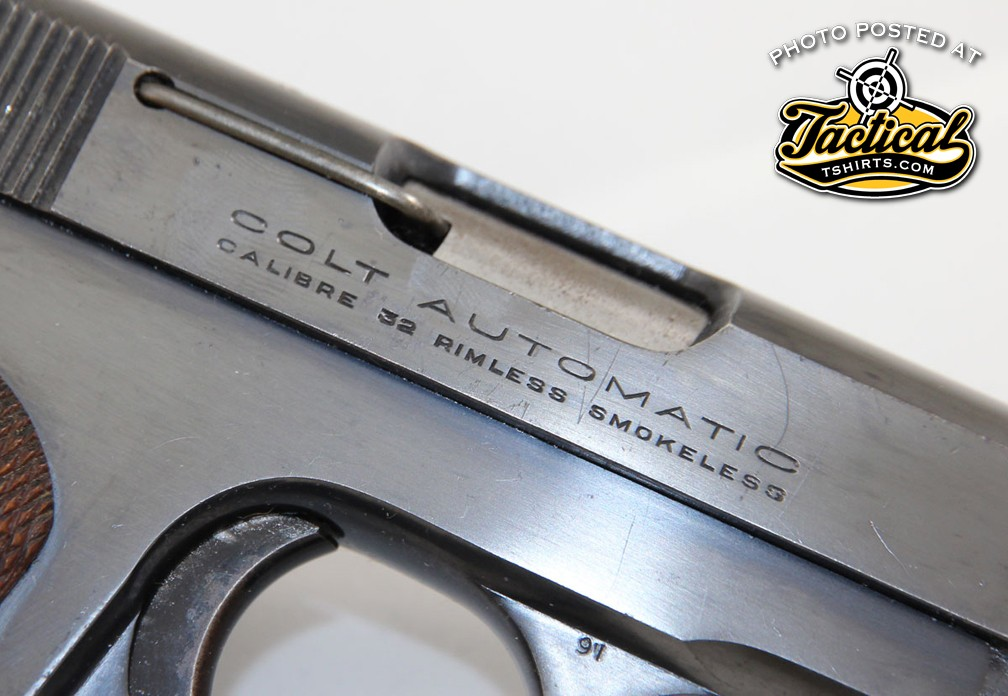 "Government-issued models will be stamped ""U.S. Property"" on the frame below the caliber."