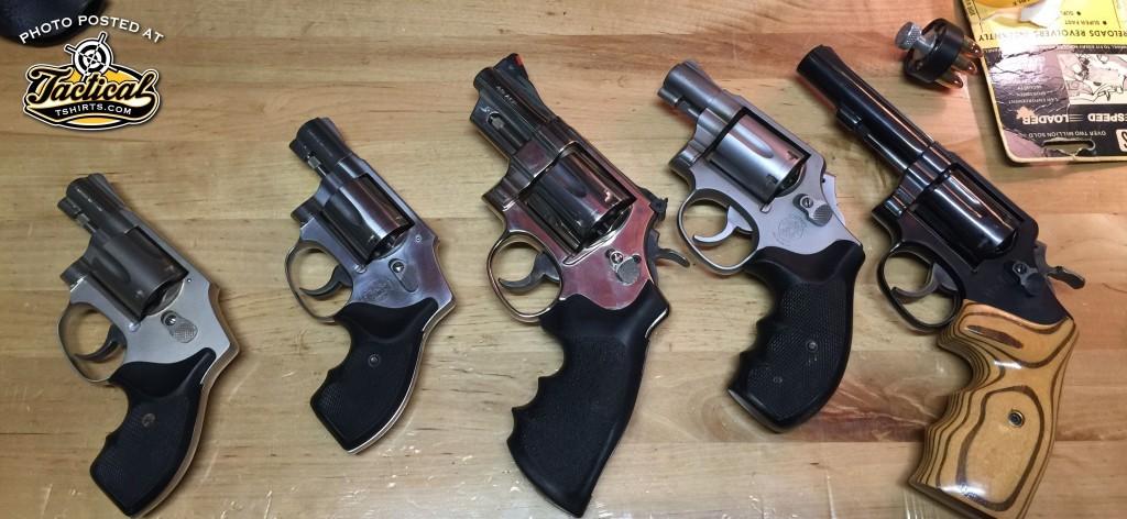 L-R: 442, 940, Model 25, Model 64, 547.