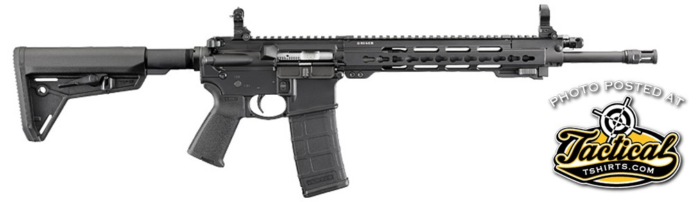 Ruger also showed a take-down version of its SR556 rifle.