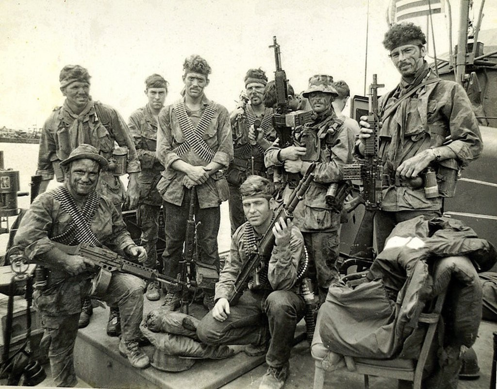 SEAL Team 1. Vietnam. Notice the Stoner 63's