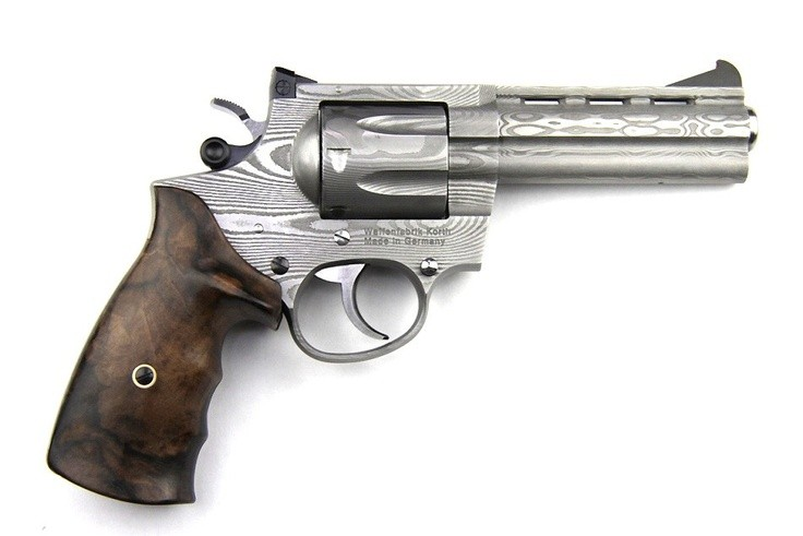 Traditional Korth Damascus Revolver.