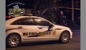 Savannah Metro Unit on scene after shooting.