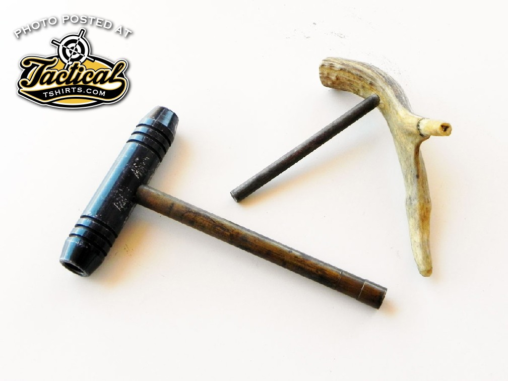 It's easy to fashion a short starter using a piece of antler and a brass rod.