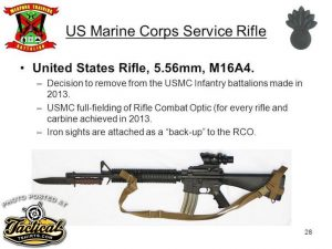 Specs for standard USMC M-16A4