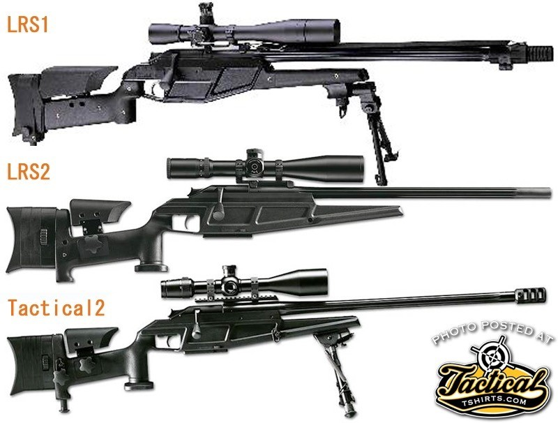 The Tactical 2 looks very similar to the LRS 2. Note the fixed 1913 rail on barrel.