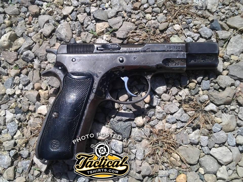CZ 75. Well Worn Right Side