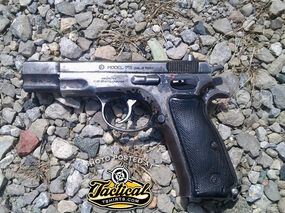 CZ75 Steel Frame. Left Side.