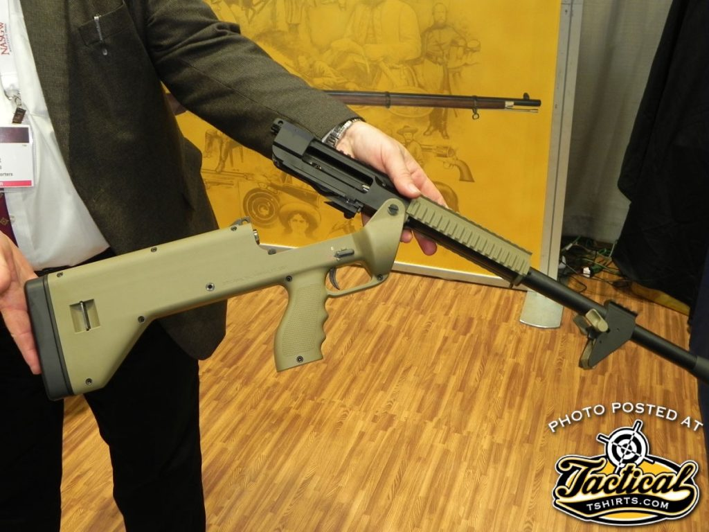 Simply pull a pin and the Model 1216 breaks open like an AR-15 for easy cleaning.