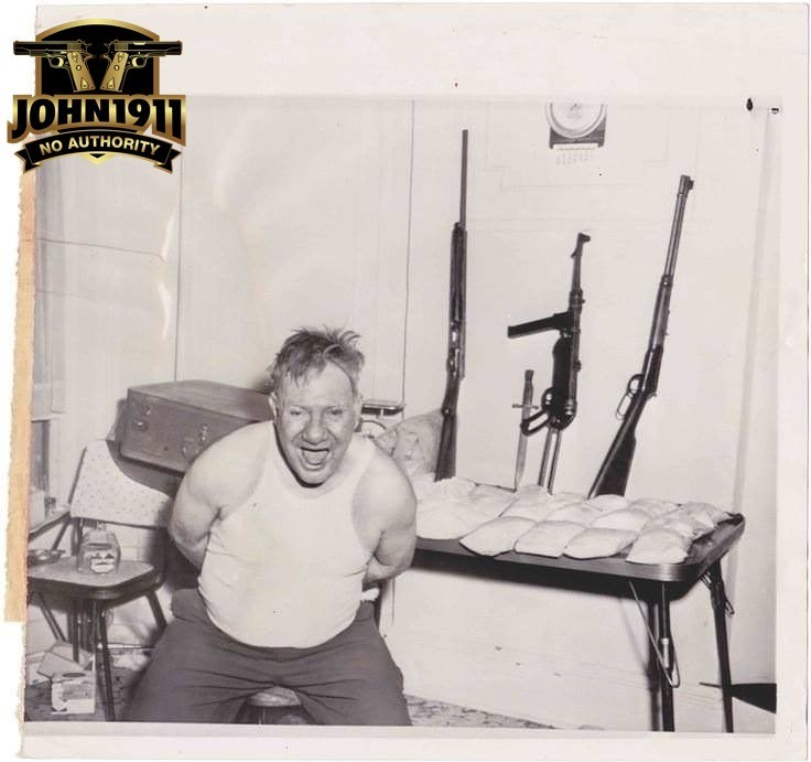 Heroin Bust NYC 1962. Notice the German Sub-Gun. That's full auto.