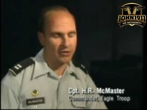 Cant. HR McMaster recounts the battle of 73 Easting for a cable TV show.