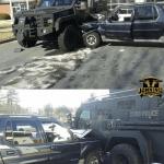 Man Rams Parked SWAT Vehicle