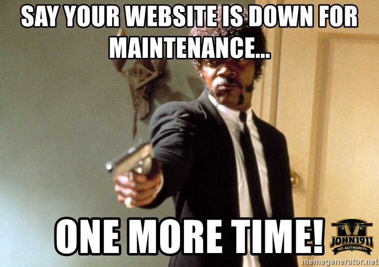 Website Down For Maintenance
