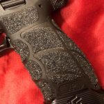 Pistol stippling alternative. JB Weld Epoxy and polishing compound.