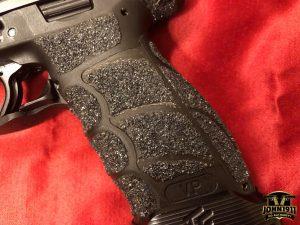 Pistol stippling alternative. JB Weld Epoxy and polishing compound.