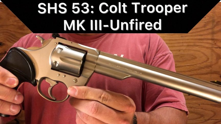Colt Trooper MK III Revolver.