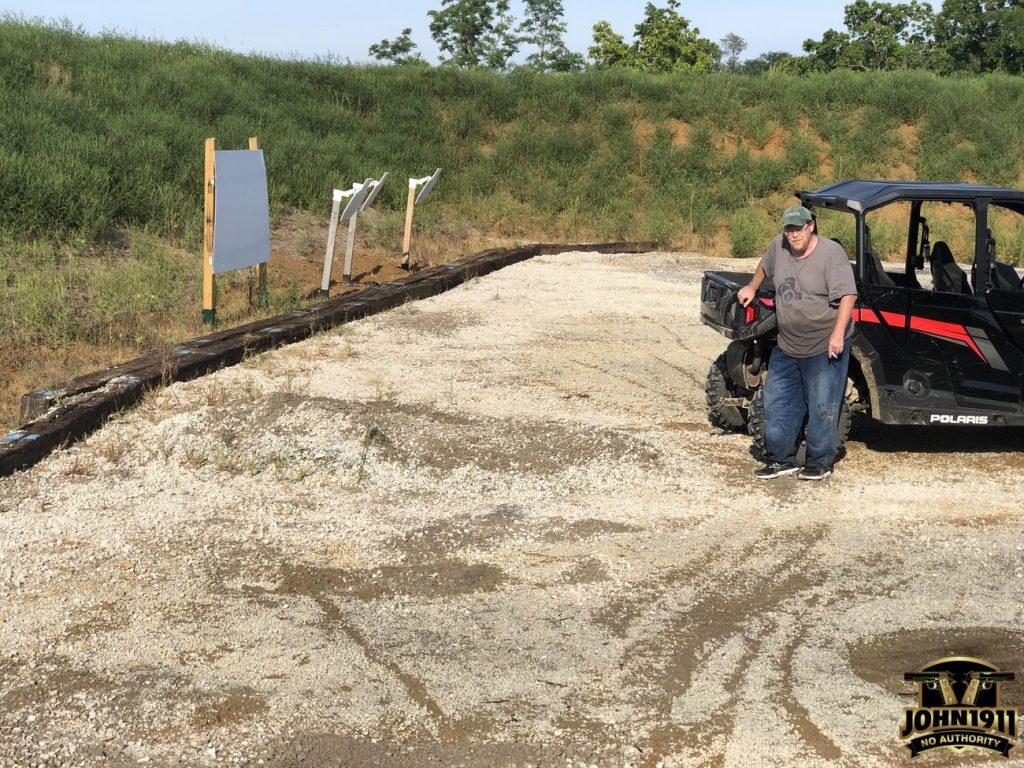 Pistol Pit Retaining Wall Construction