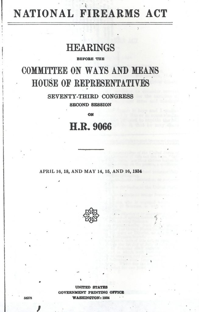 National Firearms Act 1934