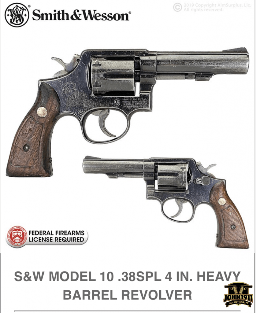 S&W Model 10-8 AIM Surplus.