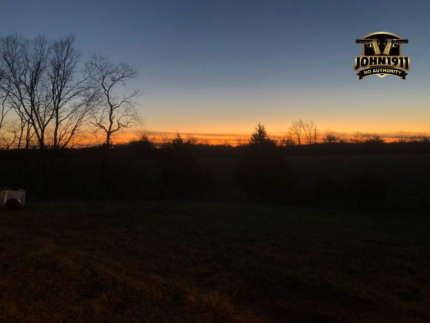 POTD - Sunsets on the rifle range.