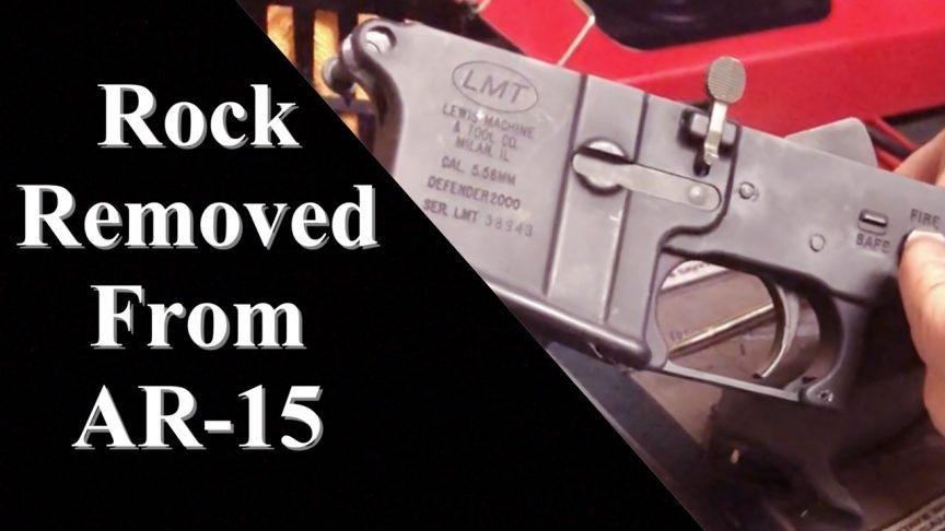 Removing Rock Jammed AR-15 Trgger.