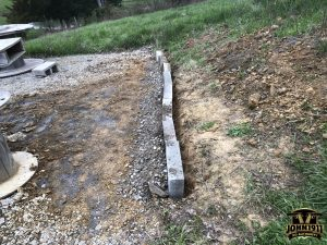 Rifle Shooting Position Retaining Wall