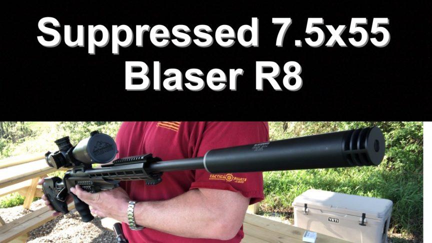Suppressed 7.5x55 / 7.5 Swiss Barrel. Blaser R8.