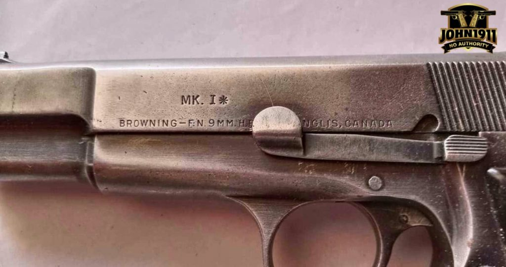 Browning Hi-Power Mk I*. MK 1*