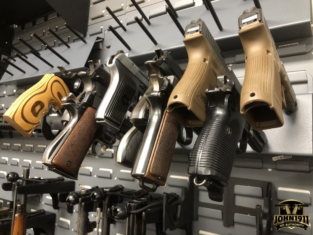 Secure It gun storage. High density pistol storage.