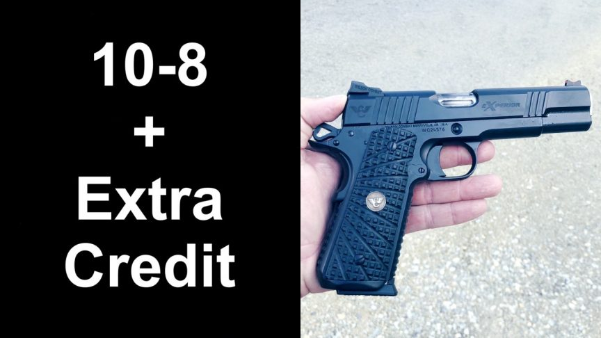 10-8 eXperior 1911 Function Test. Hilton Yam Test, Wilson Combat eXperior Review.