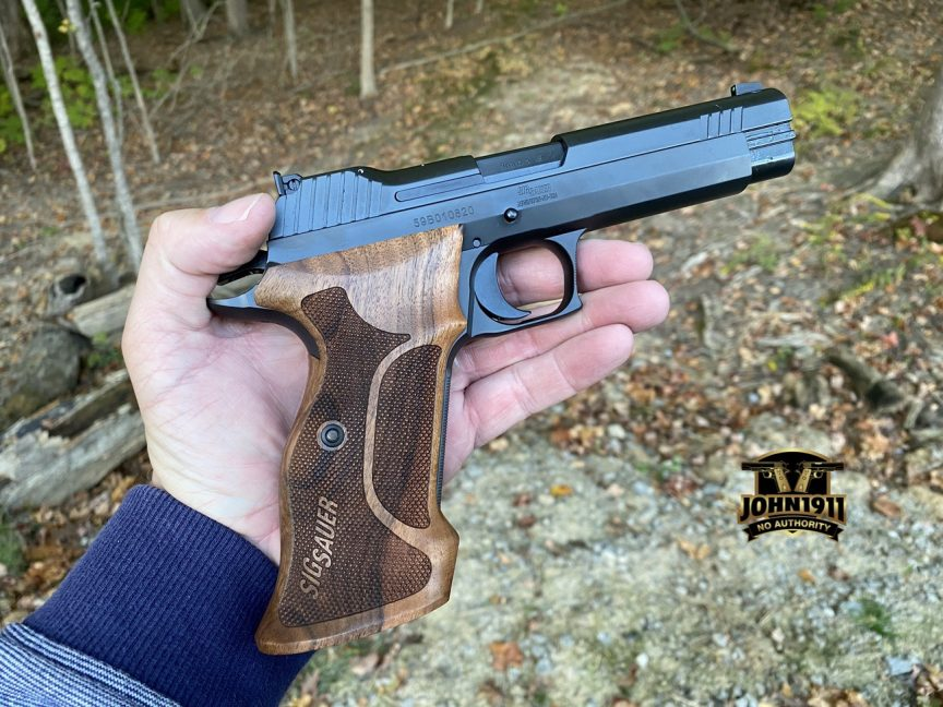SIG P210 Target 9mm Reproduction.