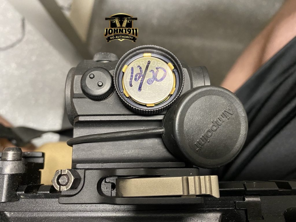 New AimPoint Battery Markings
