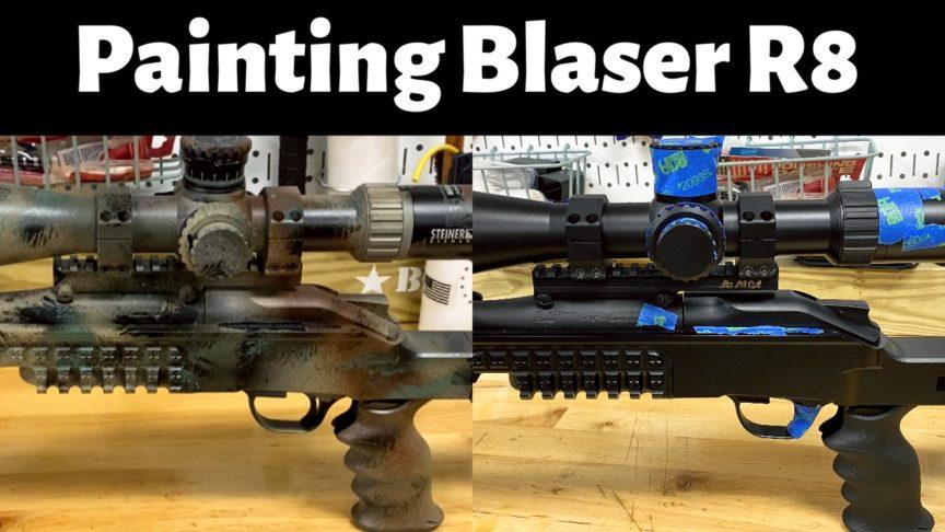 camouflage Blaser R8 rifle
