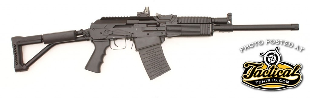 The receiver cover is hinged instead of removable so optics don't lose their zero between gun cleanings.