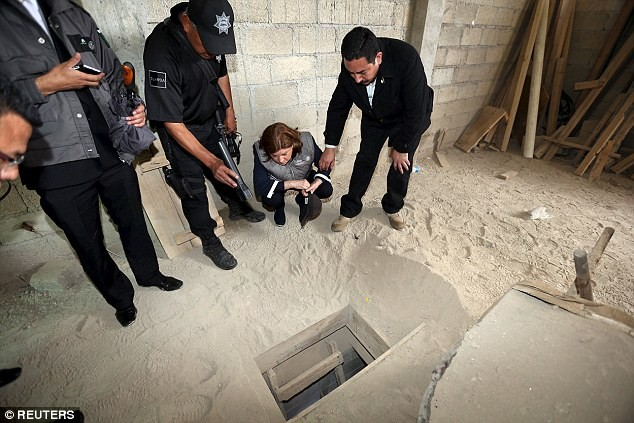 El Chapo Escape Tunnel.