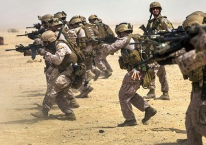 USMC with M4 Carbines