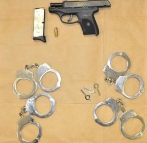 Killer's Pistol and Handcuffs