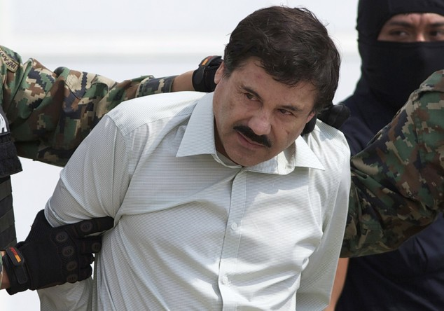 El Chapo in Custody of Mexican Marines
