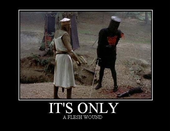 It's Only A Flesh Wound -- Monty Python