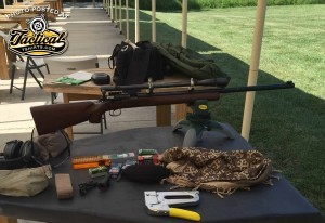 Unertl is on the rifle. Scope is set.