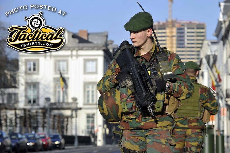 Belgium Solider with FS2000 Rifle