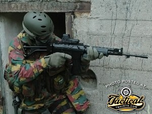 FNC with EOTECH and Paratrooper Folding Stock