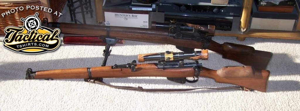 Gratuitous Enfield Sniper Pic. No. You can't use clips because of the scope.