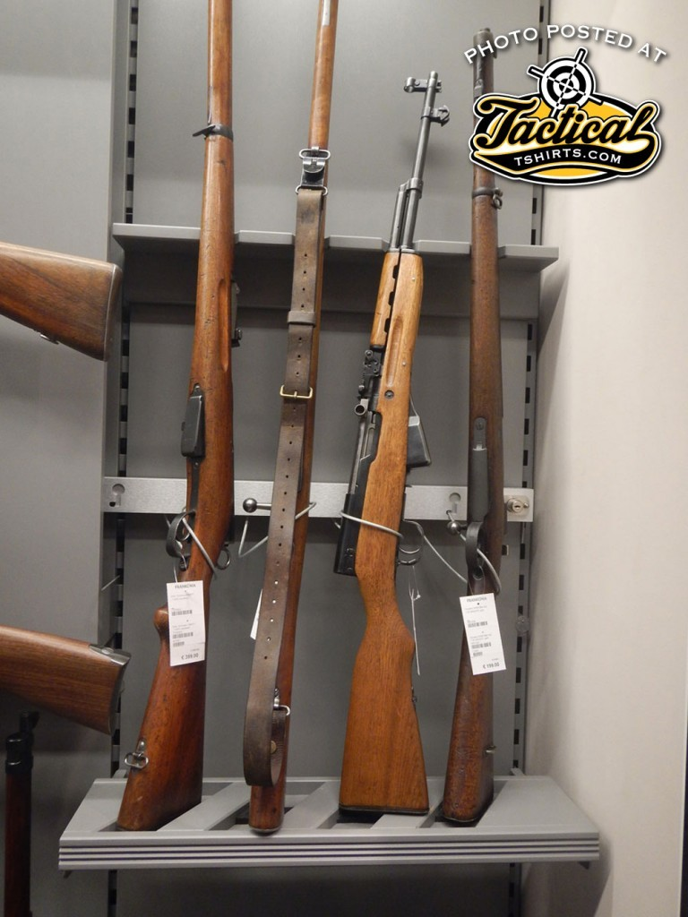 """The SKS located in the """"mil-surp"""" area. Notice the excellent shape the rifles are in."""