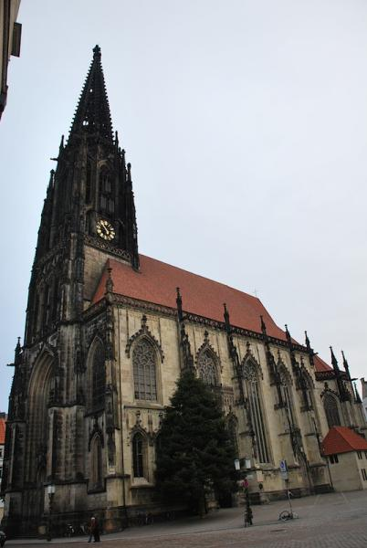 St Lambert's Church visible today. Munster Germany