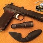POTD: Steyr-Hahn P08 Pistol, KA-BAR, Surefire