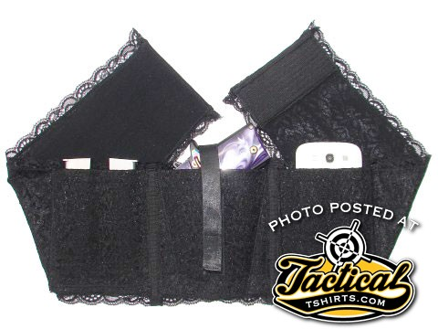 Velcro and lace style waist holster