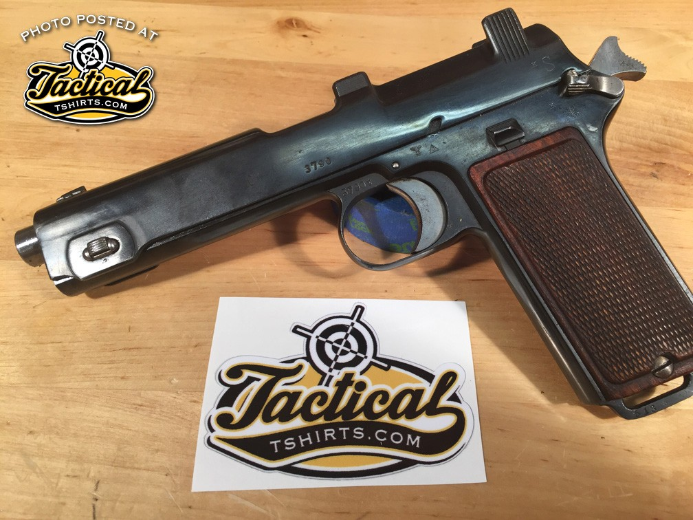 You can see this pistol has been refinished which is perfect for my uses.