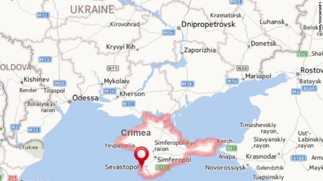 Location of Crimea.