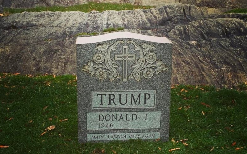 Tombstone Found in NYC Park, March 2016.